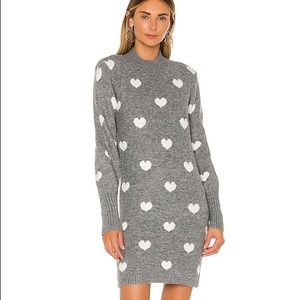 Lovers + Friends Kamalla heart sweater dress